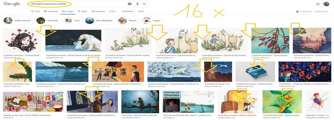 positionnement image Google